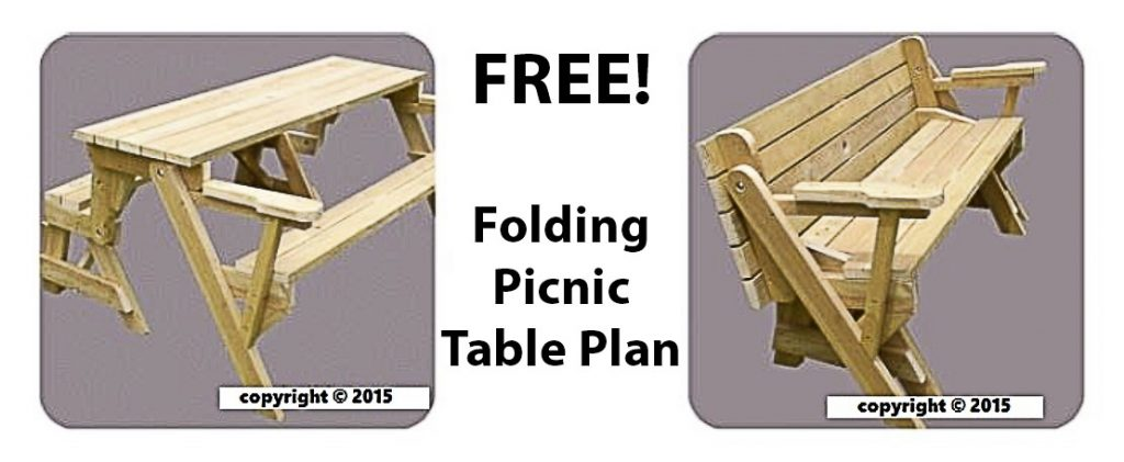 Picture of folding picnic table